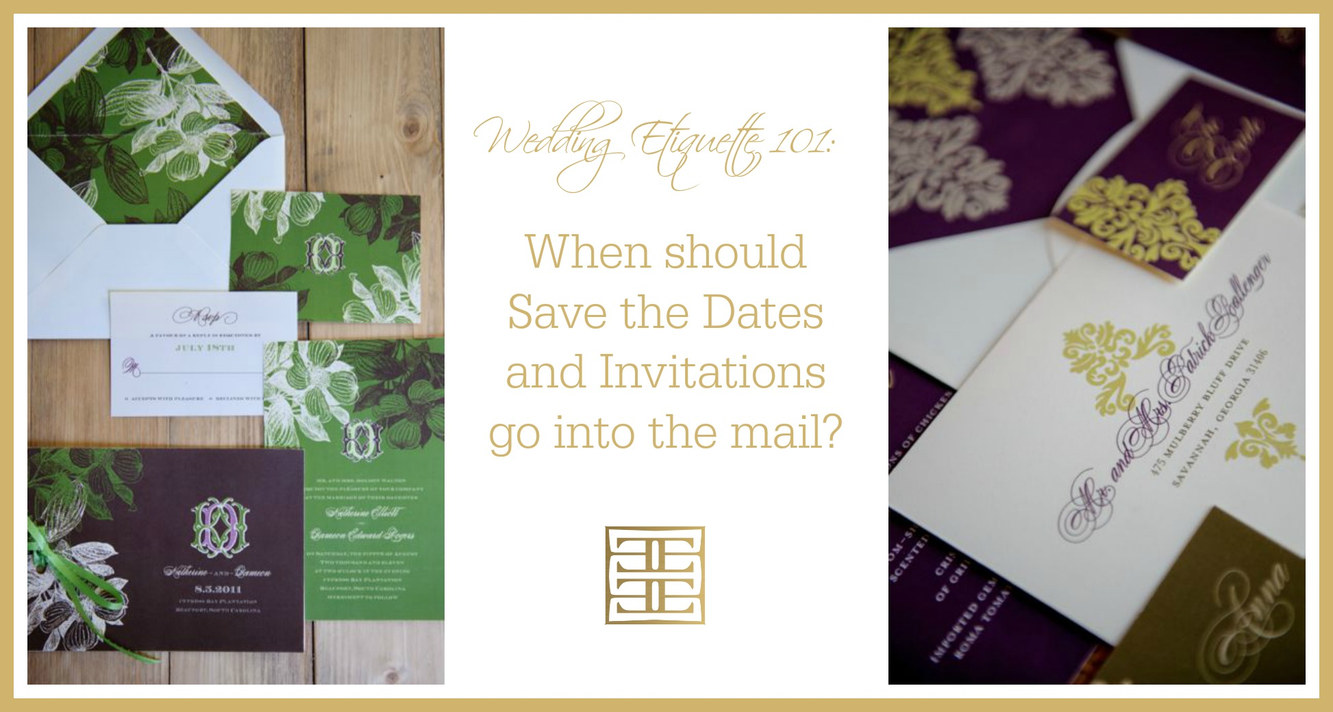Wedding Invitations Sent Out: Etiquette 101: When To Send Wedding Invitations